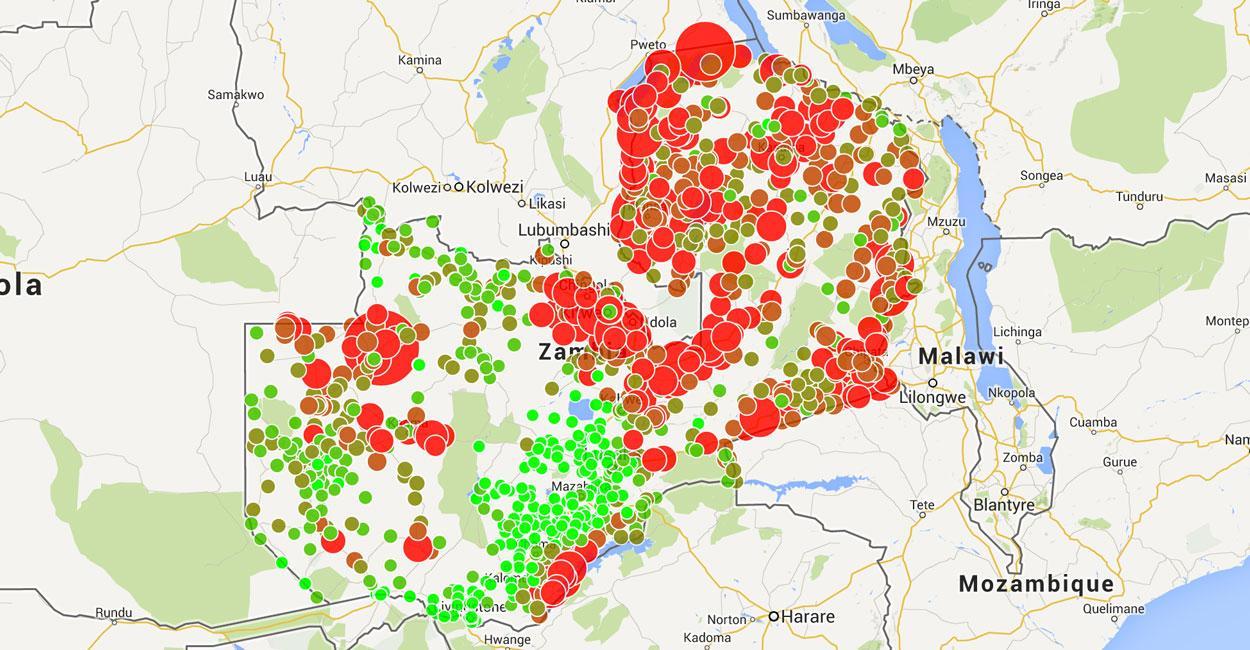 Malawi Malaria Kartta Kartta Malawi Malaria Ita Afrikka Ja